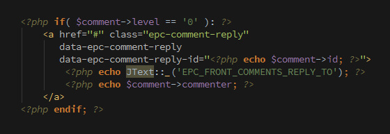 nested comments display